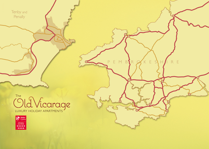 The Old Vicarage Tenby Map